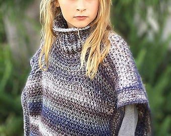 Pullover, Poncho, Crochet Pattern, Women, Girl, Winter Wear, Wonderlynd Poncho