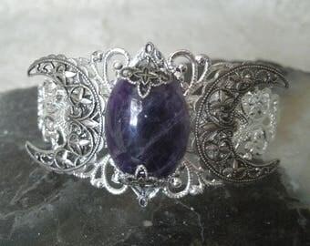 Amethyst Cuff Bracelet amethyst jewelry boho jewelry bohemian jewelry gypsy jewelry hippie bracelet bohemian bracelet gypsy bracelet new age
