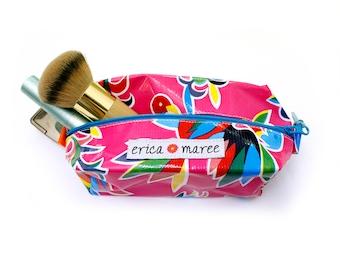 Cute oilcloth cosmetic case lipstick pouch