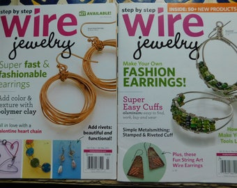 2015 Step by Step Wire Jewelry Magazine 2 issues Collection Wire Wrapping Magazines Tutorials Wire Wrap work instructions