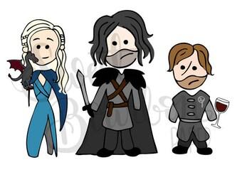 Thrones Goobers // Hand-Drawn Planner Stickers