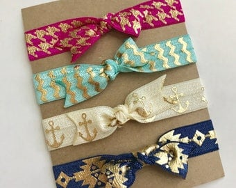 "Elastic Hair Ties ""Royal Golds"" - Hair tie bracelets - Hair accessories"