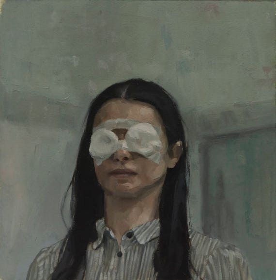 The Lobster (Short Sighted Woman), Oil Painting