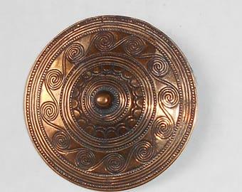 Vintage Norway Bronze Brooch  BRONSEALDERSMYKKE