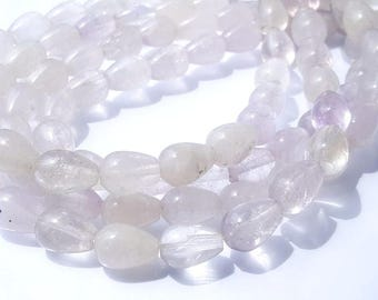 Clear Opaque Quartz tear drop shaped beads strand-16 Inches Strand.