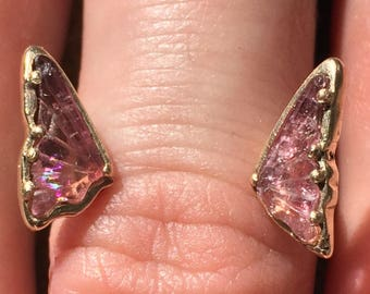 14K Tourmaline Butterfly Ring