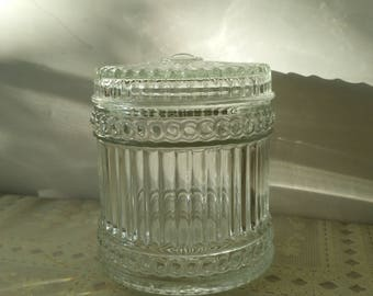Cannister Apothecary Jar clear glass