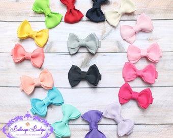 """Baby hair bow, YOU CHOOSE, girl hair bow, 2"""" hair bow, small hair bow, basic hair bow, toddler hair bow, hair bow set, set, mini bow"""