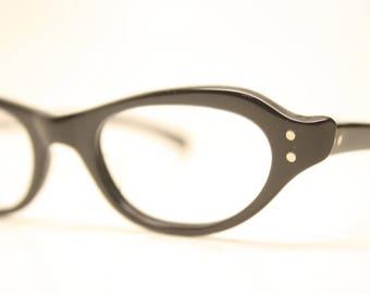 Unused Black Vintage Cat eye glasses cat eye frames NOS