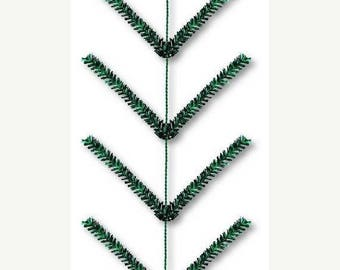 "10% OFF SALE Emerald Green Metallic Pencil Work Garland XX752506, Poly Mesh Supplies, Deco Mesh, 12"" Wide x 9' Long"