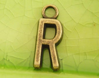 20 bronze letter R charms pendants ron remus ravenclaw initial alphabet monogram word name character book movie 16mm x 6mm C0989-20