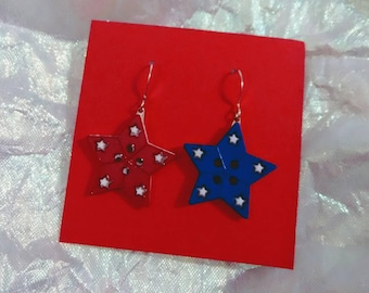July 4th 4th of July fireworks Independence Day stars earrings holiday earrings brockus creations