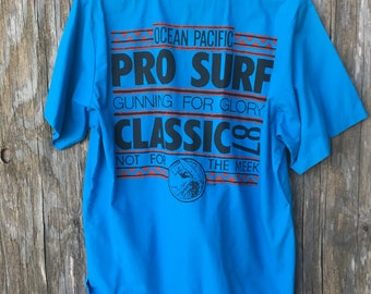 Vintage Ocean Pacific Novelty Graphic 80's Shirt