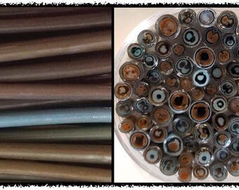 coe96 Murrini Cane - Turquoise Brown