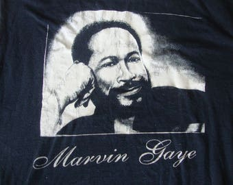 Vintage 90's Marvin Gaye R&B icon Sleeveless Concert T Shirt Men's Size 2XL