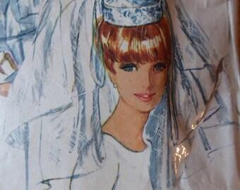 Bridal Veil Sewing Pattern.  Simplicity Bridal Veil Pattern.  Simplicity Pattern.  Vintage Bridal Veil Pattern.