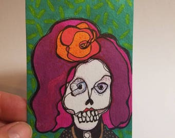 Tha Sweet Rosita - aceo original drawing