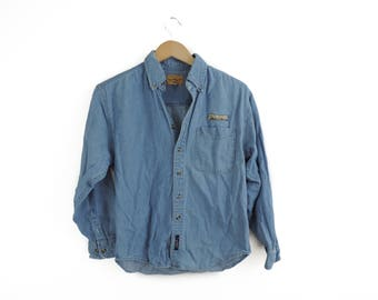 Vintage Purdue University Jean Button Down Shirt // Size XS