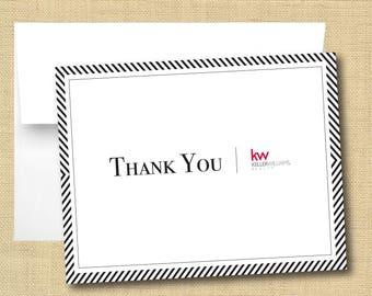 Set of Thank You Cards - Keller Williams Classic Chevron Black
