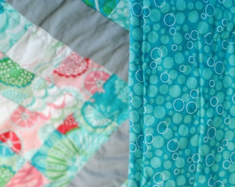 Coral Queen of the Sea for Moda Baby/Toddler Girl Quilt