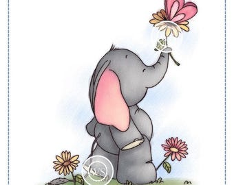 Whimsy Stamps -- Spring Time Elephant -- NEW  -- (#2315)