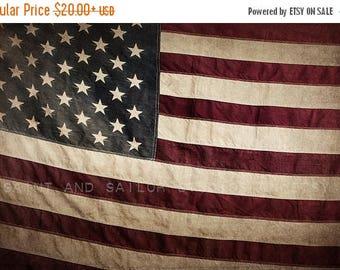 FLASH SALE til MIDNIGHT Vintage American Flag , Photo Print, Boys Room decor, Boys Nursery Prints, Wall Art
