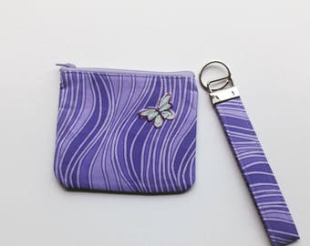 Purple Coin Purse and KeyFob