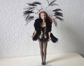 Candi Girl Fashion Doll Re-dressed as a Dancer, Hamilton Designs Systeme,1997.