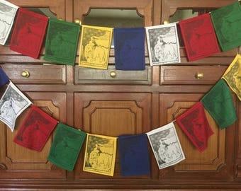 The four peacful friend prayer flags