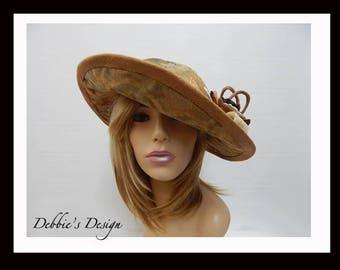 Women's Handmade Hat-579 Women's Cloche Hat, Women's Hats, Women's Wide Brim Hat, Women's Formal Hat