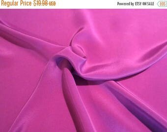 ON SALE Plum Pure Silk Crepe de Chine Fabric--One Yard