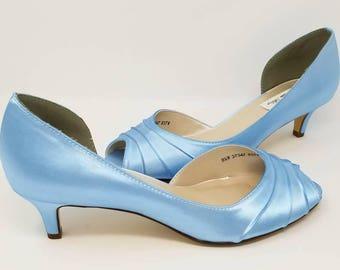Blue Wedding Shoes Blue Bridal Shoes Blue Bridesmaid Shoes  PICK FROM 100 COLORS Bridesmaid Shoes
