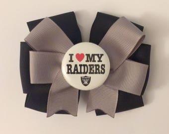 Love my Raiders Hair Bow