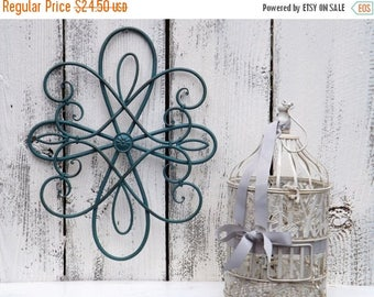 ON SALE Metal Wall Decor /  Scrolled Art / Fleur De Lis / Metal Wall Art