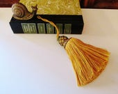 Houlès, Paris Vintage French Key Tassel by Houles, Paris, Hand Made Green and Gold Tassel, French Chic, Traditional Decor, The Gilded Tassel