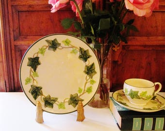 Four Franciscan Ivy Luncheon Plates, Alfresco Dining, Garden Decor, Mid Century China, Made in California, Salad Plates, Earthenware