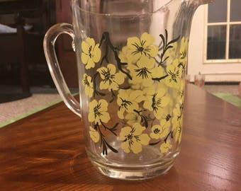 Vintage Pitcher Flower/Florsythia