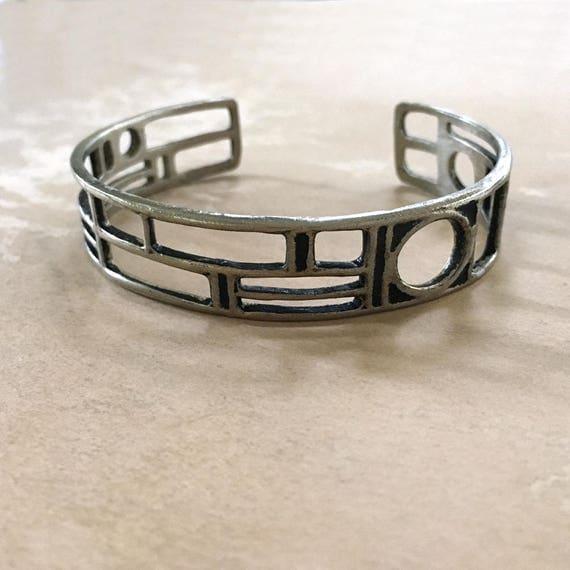 Bronze Cuff, Geometric Cuff Bracelet, Unisex Bracelet, Mens Cuff Bracelet