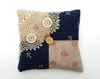 Organic Lavender Sachet Antique Textiles Lace Linen Home Decor American Gothic Series