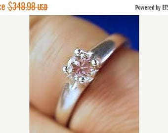 Summer time Sale Event Light Champagne Genuine .25ct Diamond Ring in Sterling Silver custom 14k white yellow gold handmade 4 5 6 7 8 9 10 ha