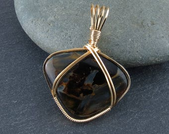 Pietersite Wire Wrapped Pendant (641)