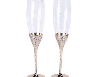 Unik Occasions Wedding Champagne Flutes (Gold)