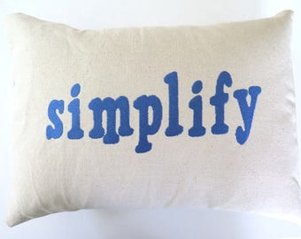 Simplify Embroidered Pillow Cover