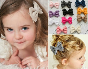 Adorable felt Hair Bows, girls hair bows,baby hair bows, pink hair bow, stocking stuffers, little hair bows, hairbows, hair bows, hair clips