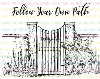 Follow your own path - digital stamp by Tierra Jackson