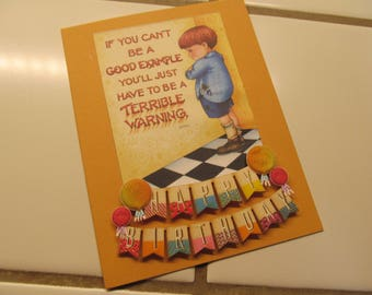 Funny Birthday Card -- Mary Englebreit Upcycle