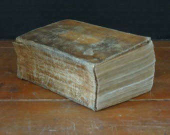 Vintage / Antique 1848 Bible / Brown Leather and Gold Edge Details / Old and New Testaments / Polyglott Bible / English Version
