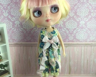 Blythe Romper - Teal Yellow and Pink Floral