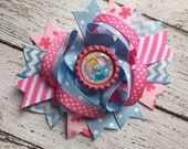 Baby Girls Layered Cinderella Hair Bow Clip Cinderella Hair Clip Cinderella Hair Bow Disney Cinderella  Hair Bow Clip