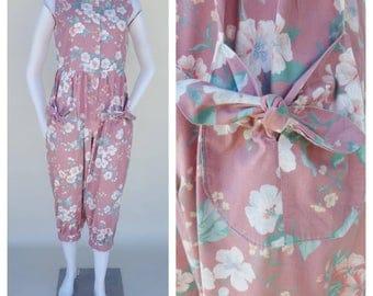 Floral Jumpsuit / 80s Jumpsuit / Vintage Jumpsuit